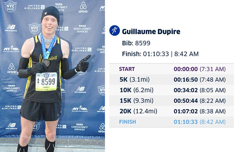NYC half marathon finish